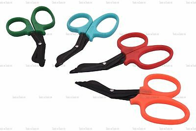 "4.5"" Black Steel Tough Cut Emergency Scissors Shear EMT Bandage Nursing 4 Colors"