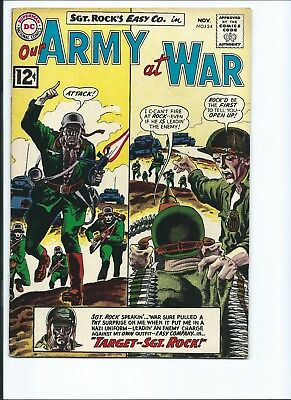 Our Army At War 124 - G/vg 3.0 - Sgt. Rock - Easy Company (1962)