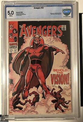 Avengers 57  (Oct 1968, Marvel) CBCS 5.0: 1st Appearance of Silver Age Vision