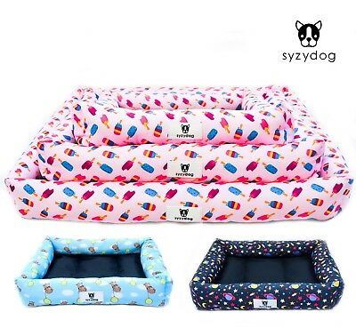 Syzy Dog Soft Fun Dog Bed Waterproof Washable Hardwearing Pet Basket Mat Cushion