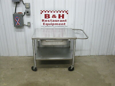 "32"" x 24""  Heavy Duty Stainless Steel Equipment Table Mixer Slicer Stand"