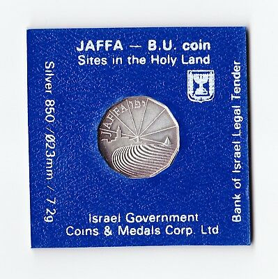 1989 Holy Land Sites Jaffa 1/2 New Sheqel NIS Silver Proof Coin from Israel 7.2g