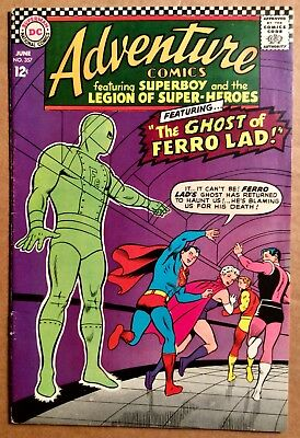 ADVENTURE COMICS #357 (1967) DC Silver Age Superboy & Legion of Super-Heroes VG+