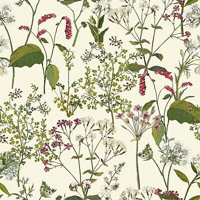 """""""Welsh Meadow"""" by Celina Digby Upholstery Curtains Cushions Cotton Linen Fabric"""