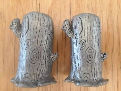 Todd Oldham Pewter Candle Stick Holders set of 2 Nick at Nite collection 1990's