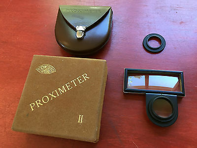 Herman Schneider Co Proximeter II with Original Box Signet & Bolsey B2 Adapters