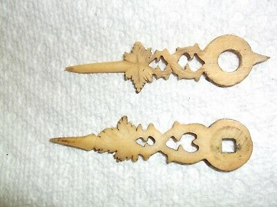 Cuckoo Clock,antique Bone Hands,used,parts Only