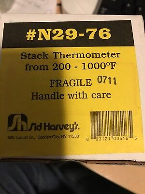 THERMOMETER STACK 200-1000°F  Sid Harvey's # N29-76 , NOS