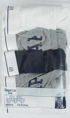 NWT Boys GAP Kids 5 Pack Briefs Plain and Logo - 303651