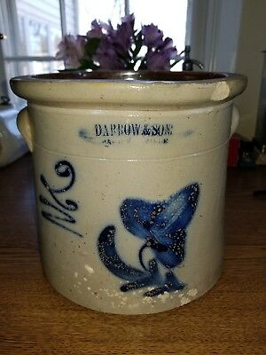 Antique Primitive Stoneware New York State Baldwinsville Crock