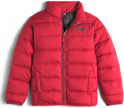 New with Tags, The North Face Boys Andes Down Jacket Red & Graphite Grey, Large