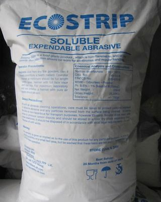 "5kg SODA BLASTING MEDIA ""ECOSTRIP"" SODIUM BICARBONATE 5KG BICARBONATE OF SODA"