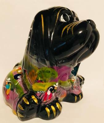 Talavera Dog Poopie Bank Handmade Painted Ceramic Mexican Pottery