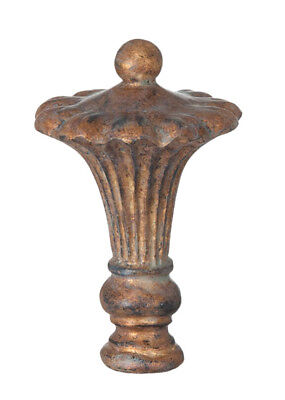 "VICTORIAN REGENCY  LAMP FINIAL ~ Antique Brass Finish  { 3 5/8"" Tall } ~ #LE39"