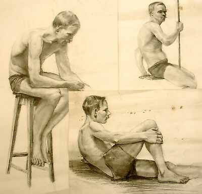 GEORGE HEGARTY RAMSAY c.1914 LIFE DRAWINGS WWI CONSCIENTIOUS OBJECTOR STRATHYRE