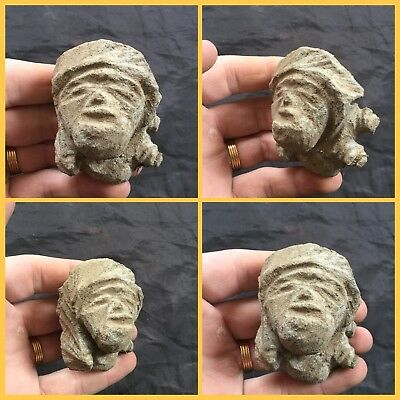 Ultra Rare Stone Age Ancient Neolithic Anthromorphic Bust 4500BC (1)