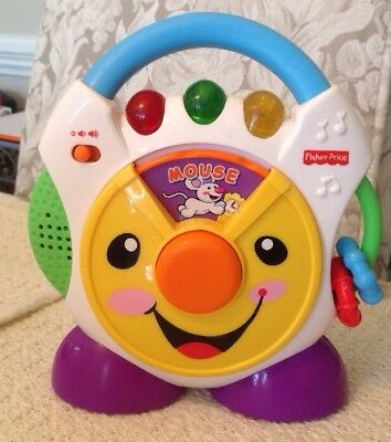 Fisher Price Nursery Rhymes Cd Player H6319 3 Dancing Colored Lights Music