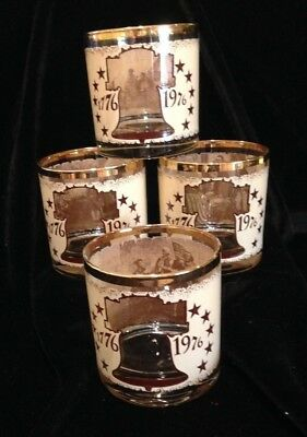 Set of Bicentennial Glasses 1976-1976  Four in all