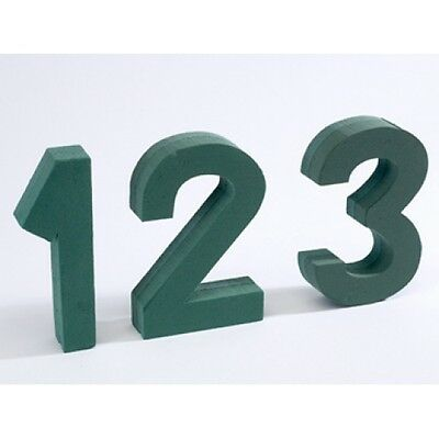 Floral Foam Numbers With Fixings 0-9 Available Funeral Tributes Oasis Type