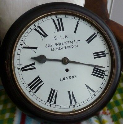 S I R John Walker Ltd, 63 New Bond Street. LONDON.-  Single fusee Wall clock