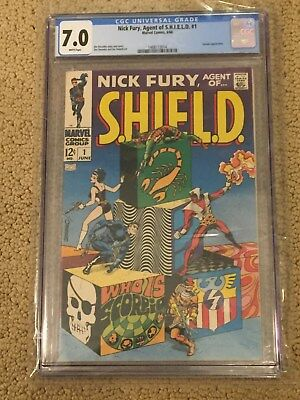 Nick Fury Agent of SHIELD #1 CGC 7.0 Rare White Pages (Classic Steranko!!)
