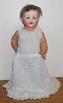 """Antique Nippon Japan Morimura 20"""" Character Baby Doll Bisque Head Compo Body"""