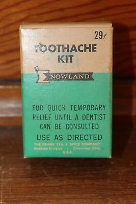Vintage Nowland Toothache Kit with Product/Frank Tea & Spice Co. Cincinnati, OH.