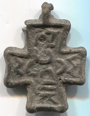 Ancient Byzantine Bronze Cross Balkan Type 9 Century!!!