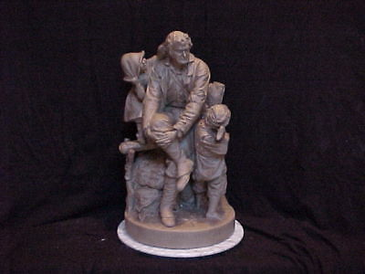 John Rogers Group of Statuary 'Rip Van Winkle at Home'