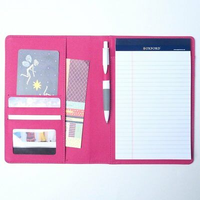 AHZOA Colorful 4 Pockets A5 Size Memo Padfolio S1, Including 5 X 8 Inch Legal X