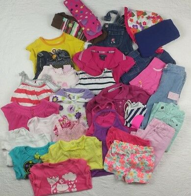 Mixed lot 29 baby girls 18-24 months clothes Baby Gap Gymboree carters summer