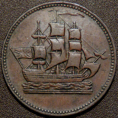 Canada  PEI Ships Colonies & Commerce Token PE-10-29 Br997  #170177