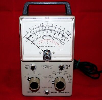 Heathkit Im-18 Vtvm ***recapped, Calibrated With New Test Probes (Tested)