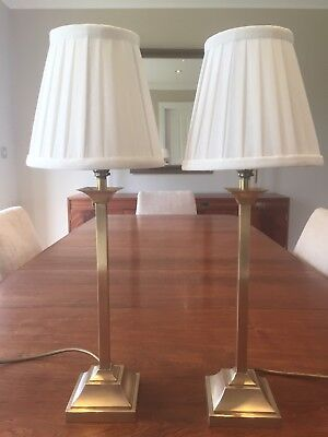 Pair of Vintage Solid Brass Laura Ashley Lamps
