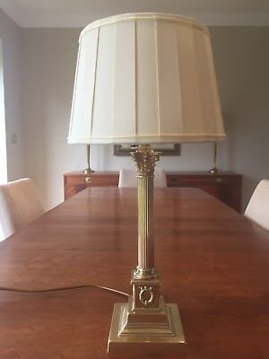 Mid Century Imperial Style Solid Brass Corinthian Column Lamp