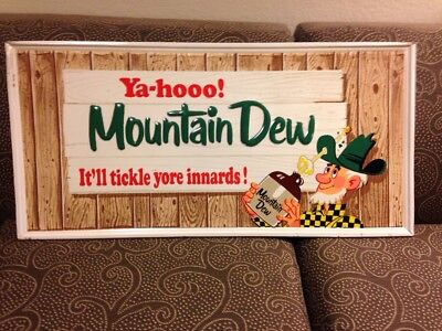 Vintage Original Mountain Dew Sign Manufactured by Stout Sign Co of St Louis '65