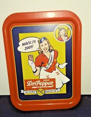 Mint 11 X 15 Dr Pepper Metal Waco Serving Tray With Button