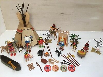 Playmobil Indianer Sippe mit Tipi 3733