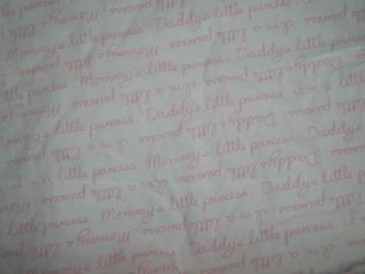 Koala Baby I Love Daddy Mommy Pink/White Fitted Crib/Toddler bed Sheet {Fabric}