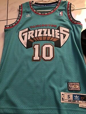 cce5ae90b NBA Vancouver Grizzlies Mike Bibby Adidas Original Swingman Jersey Men Small