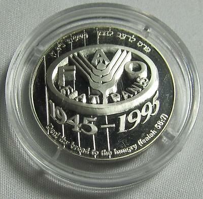 Israel 1995 Silver New Sheqel 50th Anniv. of The F.A.O.