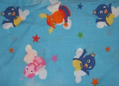 Vintage Backyardigans Cartoon Character Flat Toddler Bed Sheet {Fabric}