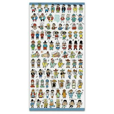 Cute Tiny Japanese People Stickers Sheet Vinyl Craft Scrapbook Ninja