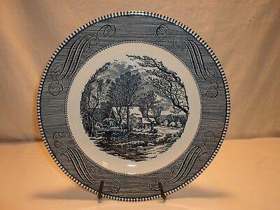 """Currier and Ives Cavalier Ironstone Royal China 10"""" Dinner Plate"""