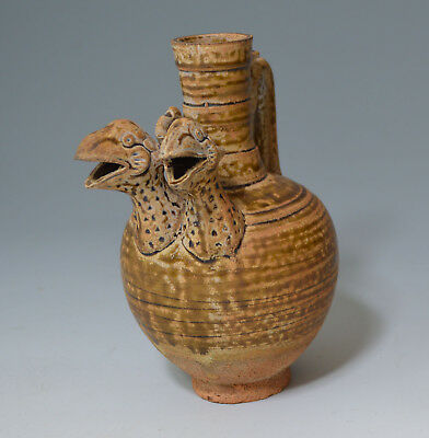 South East Asian Rare Chinese/South east Asian  stoneware Avian ewer 中国古董