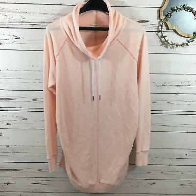 Liz Lange Maternity Womens Blush Pink Cowl Neck Light Weight Sweatshirt Size Xl