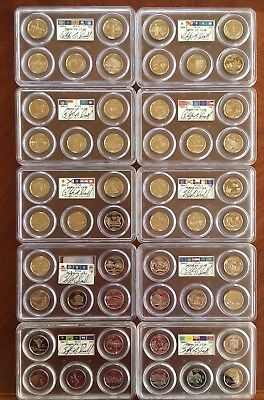 Complete PCGS 50 Coin State Quarters Set PR69 DCAM Clad Signed by Mint Director!