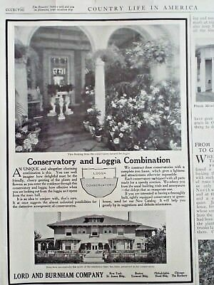 1911 LORD & BURNHAM Conservatory & Loggia Greenhouse Manufacturers March 1st CLA