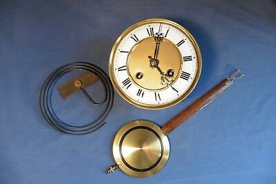 Antique Japan Tokyo Seikosha Vienna wall Clock movement + pendulum gong working