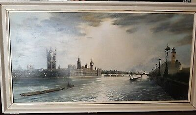 Antique Painting By H Moss British Artist